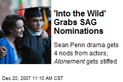 'Into the Wild' Grabs SAG Nominations