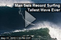 Man Sets Record Surfing Tallest Wave Ever