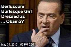 Silvio Berlusconi party girl dressed as Barack Obama