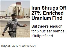 Iran Shrugs Off 27% Enriched Uranium Find