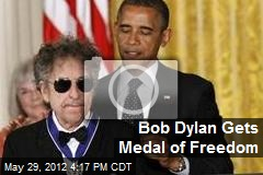 Bob Dylan Gets Medal of Freedom