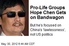 Pro-Life Groups Hope Chen Gets on Bandwagon