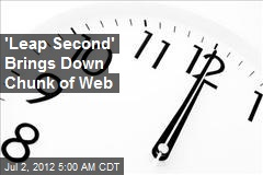 'Leap Second' Brings Down Chunk of Web