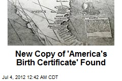 New Copy of 'America's Birth Certificate' Found