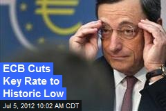 ECB Cuts Key Rate to Historic Low