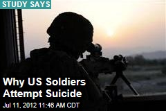 Why US Soldiers Attempt Suicide