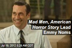 Mad Men , American Horror Story Lead Emmy Noms