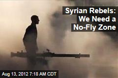 Syrian Rebels: We Need a No-Fly Zone