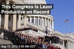 This Congress Is Least Productive on Record