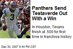 Panthers Send Testaverde Out With a Win