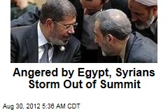 Angered by Egypt, Syrians Storm Out of Summit