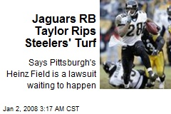 Jaguars RB Taylor Rips Steelers' Turf