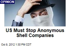 US Must Stop Anonymous Shell Companies