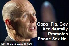 Oops: Fla. Gov Accidentally Promotes Phone Sex No.