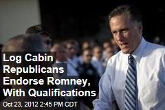 Log Cabin Republicans Endorse Romney, With Qualifications