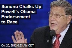Sununu Chalks Up Powell's Obama Endorsement to Race
