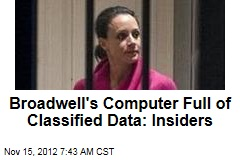 Broadwell's Computer Full of Classified Data: Insiders