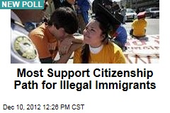 Most Support Citizenship Path for Illegal Immigrants