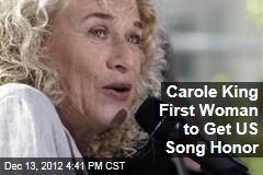 Carole King First Woman to Get US Song Honor