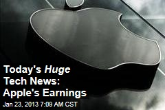 Today's Huge Tech News: Apple's Earnings