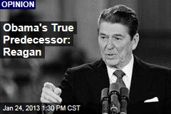 Obama's True Predecessor: Reagan