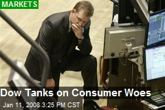 Dow Tanks on Consumer Woes