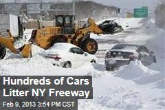 Hundreds of Cars Litter NY Freeway