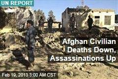 Afghan Civilian Deaths Down, Assassinations Up