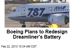 Boeing Plans to Redesign Dreamliner's Battery