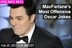 MacFarlane's Most Offensive Oscar Jokes