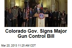 Colorado Gov. Signs Major Gun Control Bill