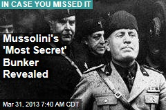 Mussolini's 'Most Secret' Bunker Revealed