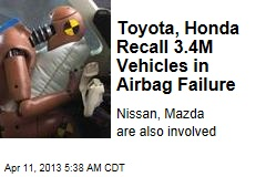 Toyota, Others Recall 3.4M Vehicles in Airbag Failure