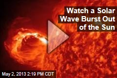 Watch a Solar Wave Burst Out of the Sun