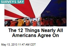 The 12 Things Nearly All Americans Agree On