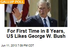 For First Time in 8 Years, US Likes George W. Bush
