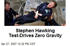 Stephen Hawking Test-Drives Zero Gravity