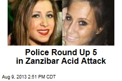Police Round Up 5 in Zanzibar Acid Attack