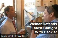 Weiner Defends Outburst in New York Bakery