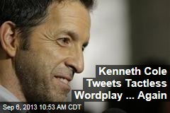 Kenneth Cole Tweets Tactless Wordplay ... Again