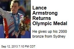 Lance Armstrong Returns Olympic Medal