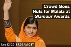 Crowd Goes Nuts for Malala at Glamour Awards