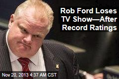 Rob Ford Loses Staff, TV Show