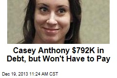Casey Anthony Cleared of Nearly $800K in Debt