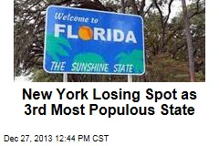 New York Losing Spot as 3rd Most Populous State