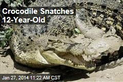 Crocodile Snatches 12-Year-Old
