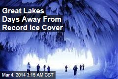 Great Lakes Days Away From Record Ice Cover
