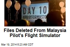 Files Deleted From Malaysia Pilot's Flight Simulator