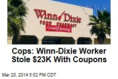 Cops: Winn-Dixie Worker Stole $23K With Coupons
