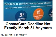 Extra Time Granted for ObamaCare Enrollment